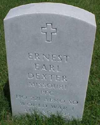 DEXTER (VETERAN WWI), ERNEST EARL - Pulaski County, Arkansas | ERNEST EARL DEXTER (VETERAN WWI) - Arkansas Gravestone Photos