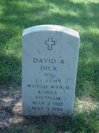 DICK (VETERAN 3 WARS), DAVID A - Pulaski County, Arkansas | DAVID A DICK (VETERAN 3 WARS) - Arkansas Gravestone Photos