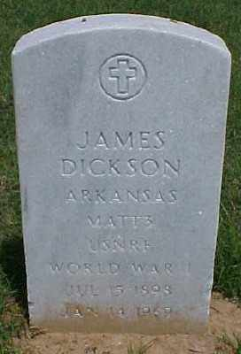 DICKSON (VETERAN WWI), JAMES - Pulaski County, Arkansas | JAMES DICKSON (VETERAN WWI) - Arkansas Gravestone Photos