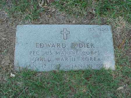 DIDIER (VETERAN 2 WARS), EDWARD - Pulaski County, Arkansas | EDWARD DIDIER (VETERAN 2 WARS) - Arkansas Gravestone Photos