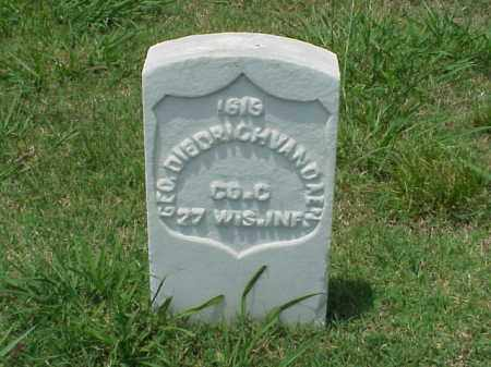 DIEDRICHVANDEN (VETERAN UNION), GEORGE - Pulaski County, Arkansas | GEORGE DIEDRICHVANDEN (VETERAN UNION) - Arkansas Gravestone Photos