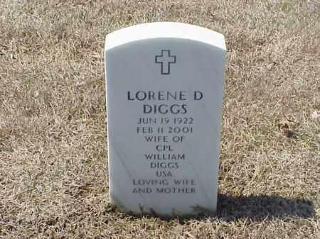 DIGGS, LORENE D - Pulaski County, Arkansas | LORENE D DIGGS - Arkansas Gravestone Photos