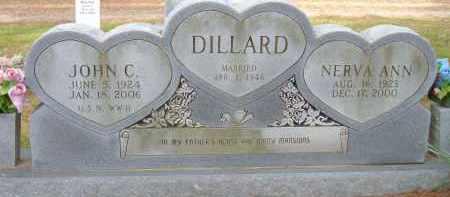 DILLARD (VETERAN WWII), JOHN C - Pulaski County, Arkansas | JOHN C DILLARD (VETERAN WWII) - Arkansas Gravestone Photos