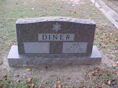 DINER, JACK - Pulaski County, Arkansas | JACK DINER - Arkansas Gravestone Photos
