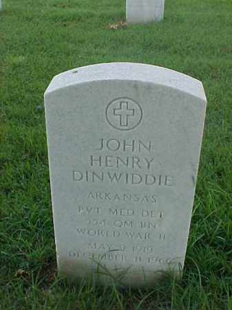 DINWIDDIE (VETERAN WWII), JOHN HENRY - Pulaski County, Arkansas | JOHN HENRY DINWIDDIE (VETERAN WWII) - Arkansas Gravestone Photos