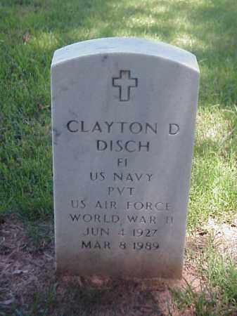 DISCH (VETERAN WWII), CLAYTON D - Pulaski County, Arkansas | CLAYTON D DISCH (VETERAN WWII) - Arkansas Gravestone Photos