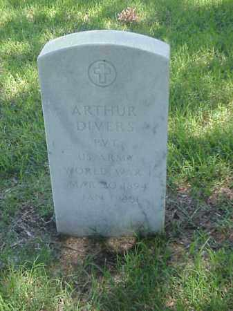 DIVERS (VETERAN WWI), ARTHUR - Pulaski County, Arkansas | ARTHUR DIVERS (VETERAN WWI) - Arkansas Gravestone Photos