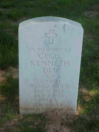 DIX (VETERAN WWII), CECIL KENNETH - Pulaski County, Arkansas | CECIL KENNETH DIX (VETERAN WWII) - Arkansas Gravestone Photos