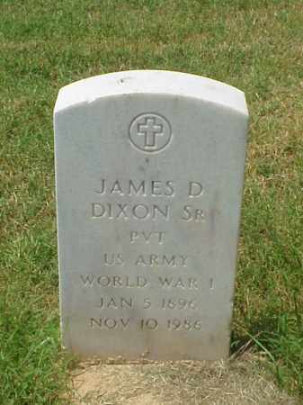 DIXON, SR (VETERAN WWI), JAMES D - Pulaski County, Arkansas | JAMES D DIXON, SR (VETERAN WWI) - Arkansas Gravestone Photos