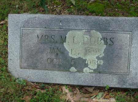 DOBBS, MRS. M.L. - Pulaski County, Arkansas | MRS. M.L. DOBBS - Arkansas Gravestone Photos