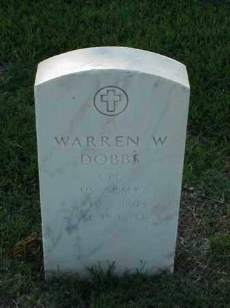 DOBBS (VETERAN WWI), WARREN W - Pulaski County, Arkansas | WARREN W DOBBS (VETERAN WWI) - Arkansas Gravestone Photos