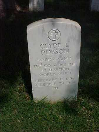 DOBSON (VETERAN WWI), CLYDE L - Pulaski County, Arkansas | CLYDE L DOBSON (VETERAN WWI) - Arkansas Gravestone Photos