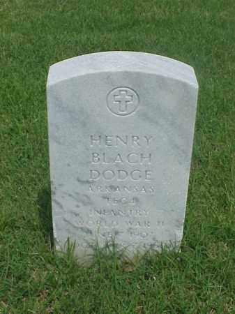 DODGE (VETERAN WWII), HENRY BLACH - Pulaski County, Arkansas   HENRY BLACH DODGE (VETERAN WWII) - Arkansas Gravestone Photos