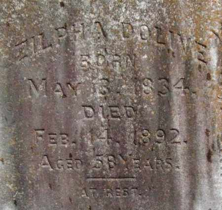 DOLIVE, ZILPHA (CLOSEUP) - Pulaski County, Arkansas | ZILPHA (CLOSEUP) DOLIVE - Arkansas Gravestone Photos