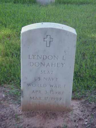 DONAHEY (VETERAN WWI), LYNDON L - Pulaski County, Arkansas | LYNDON L DONAHEY (VETERAN WWI) - Arkansas Gravestone Photos