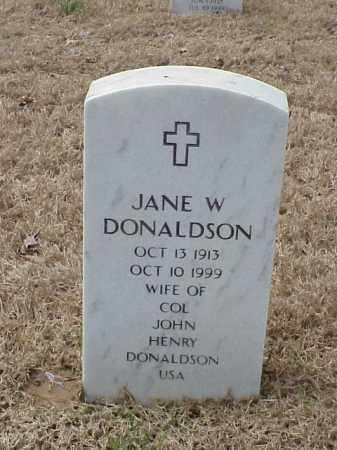 DONALDSON, JANE W - Pulaski County, Arkansas | JANE W DONALDSON - Arkansas Gravestone Photos