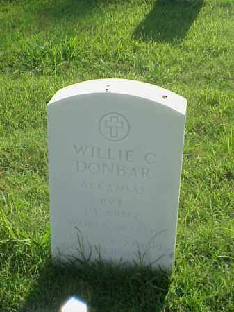 DONBAR (VETERAN WWII), WILLIE C - Pulaski County, Arkansas | WILLIE C DONBAR (VETERAN WWII) - Arkansas Gravestone Photos