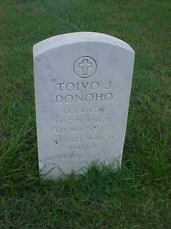 DONOHO (VETERAN 2 WARS), TOIVO J - Pulaski County, Arkansas | TOIVO J DONOHO (VETERAN 2 WARS) - Arkansas Gravestone Photos