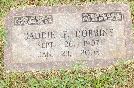 DORBINS, GADDIE F. - Pulaski County, Arkansas | GADDIE F. DORBINS - Arkansas Gravestone Photos