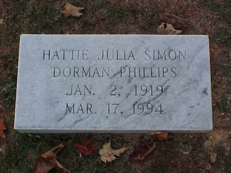 DORMAN, HATTIE JULIA - Pulaski County, Arkansas | HATTIE JULIA DORMAN - Arkansas Gravestone Photos