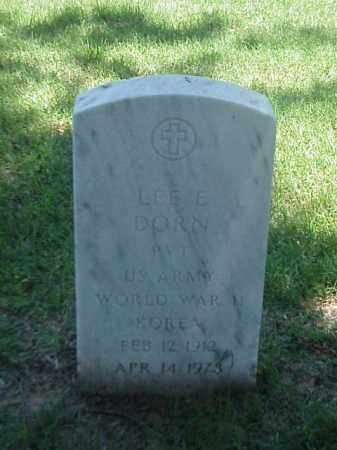 DORN (VETERAN 2 WARS), LEE E - Pulaski County, Arkansas | LEE E DORN (VETERAN 2 WARS) - Arkansas Gravestone Photos