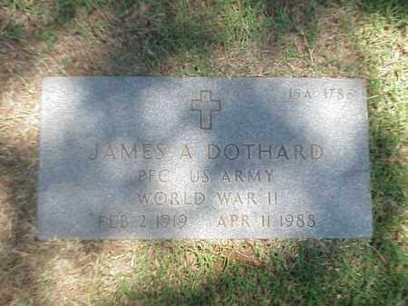 DOTHARD (VETERAN WWII), JAMES A - Pulaski County, Arkansas | JAMES A DOTHARD (VETERAN WWII) - Arkansas Gravestone Photos