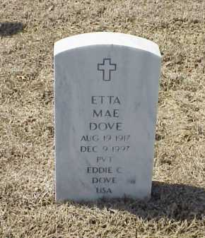 DOVE, ETTA MAE - Pulaski County, Arkansas | ETTA MAE DOVE - Arkansas Gravestone Photos