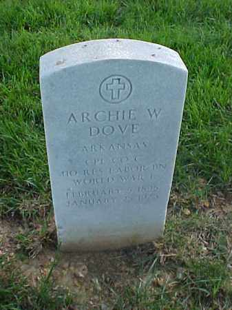 DOVE (VETERAN WWI), ARCHIE W - Pulaski County, Arkansas | ARCHIE W DOVE (VETERAN WWI) - Arkansas Gravestone Photos