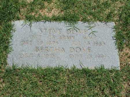 DOVE (VETERAN WWI), STEVE - Pulaski County, Arkansas   STEVE DOVE (VETERAN WWI) - Arkansas Gravestone Photos