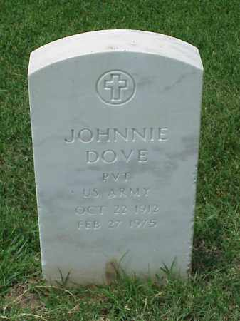 DOVE (VETERAN WWII), JOHNNIE - Pulaski County, Arkansas | JOHNNIE DOVE (VETERAN WWII) - Arkansas Gravestone Photos