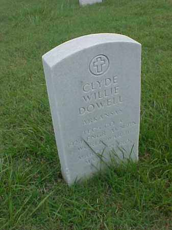 DOWELL (VETERAN WWII), CLYDE WILLIE - Pulaski County, Arkansas | CLYDE WILLIE DOWELL (VETERAN WWII) - Arkansas Gravestone Photos