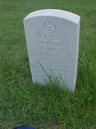 DOWELL (VETERAN WWII), CLYDE WILLIE - Pulaski County, Arkansas | CLYDE WILLIE DOWELL (VETERAN WWII) - Arkansas Gravestone Photos