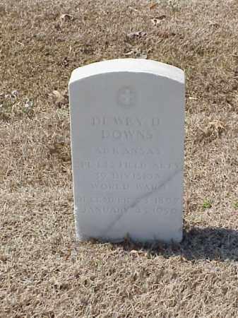 DOWNS (VETERAN WWI), DEWEY D - Pulaski County, Arkansas | DEWEY D DOWNS (VETERAN WWI) - Arkansas Gravestone Photos