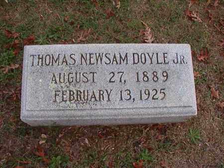 DOYLE, JR, THOMAS NEWSAM - Pulaski County, Arkansas | THOMAS NEWSAM DOYLE, JR - Arkansas Gravestone Photos