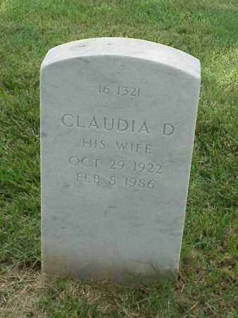 DOZIER, CLAUDIA D - Pulaski County, Arkansas | CLAUDIA D DOZIER - Arkansas Gravestone Photos