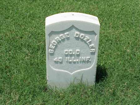 DOZLER (VETERAN UNION), GEORGE - Pulaski County, Arkansas | GEORGE DOZLER (VETERAN UNION) - Arkansas Gravestone Photos
