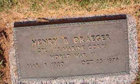 DRAEGER (VETERAN WWII), HENRY B - Pulaski County, Arkansas | HENRY B DRAEGER (VETERAN WWII) - Arkansas Gravestone Photos