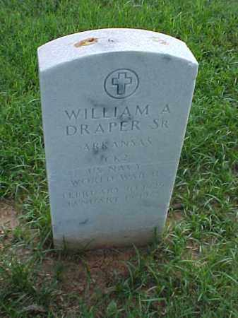 DRAPER, SR (VETERAN WWII), WILLIAM A - Pulaski County, Arkansas | WILLIAM A DRAPER, SR (VETERAN WWII) - Arkansas Gravestone Photos