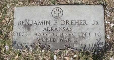 DREHER, JR. (VETERAN WWII), BENJAMIN F. - Pulaski County, Arkansas | BENJAMIN F. DREHER, JR. (VETERAN WWII) - Arkansas Gravestone Photos