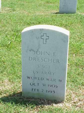 DRESCHER (VETERAN WWII), JOHN E - Pulaski County, Arkansas | JOHN E DRESCHER (VETERAN WWII) - Arkansas Gravestone Photos