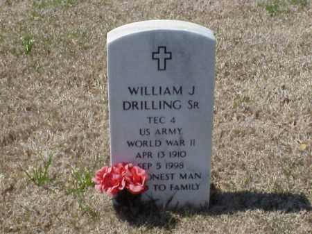 DRILLING (VETERAN WWII), WILLIAM J - Pulaski County, Arkansas | WILLIAM J DRILLING (VETERAN WWII) - Arkansas Gravestone Photos