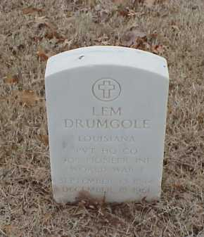 DRUMGOLE  (VETERAN WWI), LEM - Pulaski County, Arkansas | LEM DRUMGOLE  (VETERAN WWI) - Arkansas Gravestone Photos