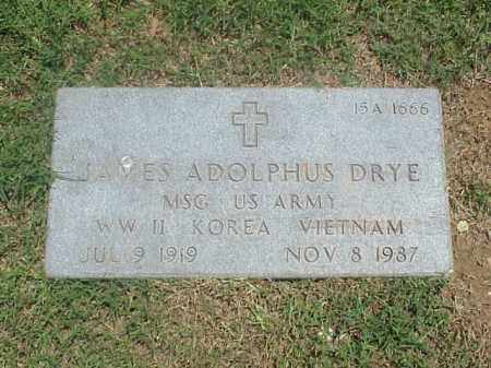 DRYE (VETERAN 3 WARS), JAMES ADOLPHUS - Pulaski County, Arkansas | JAMES ADOLPHUS DRYE (VETERAN 3 WARS) - Arkansas Gravestone Photos