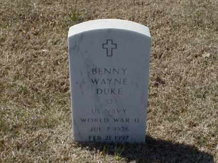 DUKE (VETERAN WWII), BENNY WAYNE - Pulaski County, Arkansas | BENNY WAYNE DUKE (VETERAN WWII) - Arkansas Gravestone Photos