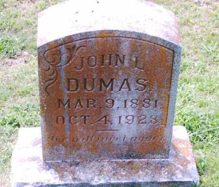 DUMAS, JOHN L. - Pulaski County, Arkansas | JOHN L. DUMAS - Arkansas Gravestone Photos