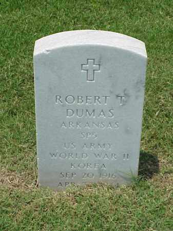 DUMAS (VETERAN 2 WARS), ROBERT T - Pulaski County, Arkansas | ROBERT T DUMAS (VETERAN 2 WARS) - Arkansas Gravestone Photos