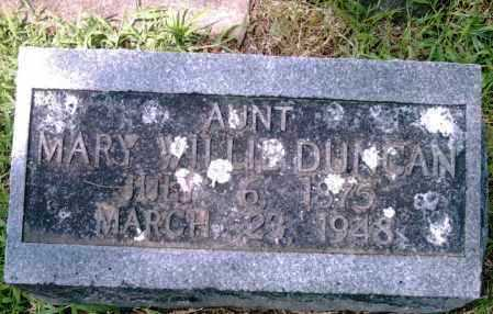 DUNCAN, MARY WILLIE - Pulaski County, Arkansas | MARY WILLIE DUNCAN - Arkansas Gravestone Photos