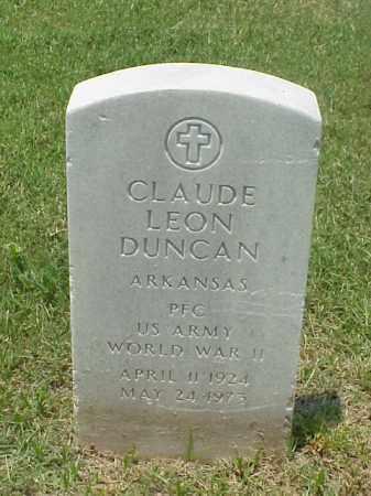 DUNCAN (VETERAN WWII), CLAUDE LEON - Pulaski County, Arkansas | CLAUDE LEON DUNCAN (VETERAN WWII) - Arkansas Gravestone Photos