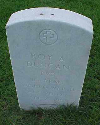 DUNCAN (VETERAN WWII), ROY A - Pulaski County, Arkansas | ROY A DUNCAN (VETERAN WWII) - Arkansas Gravestone Photos