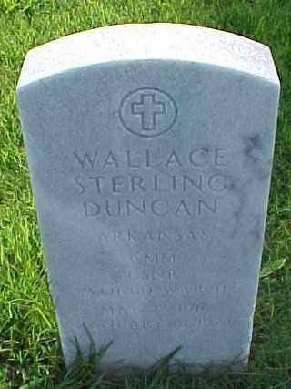 DUNCAN (VETERAN WWII), WALLACE STERLING - Pulaski County, Arkansas | WALLACE STERLING DUNCAN (VETERAN WWII) - Arkansas Gravestone Photos